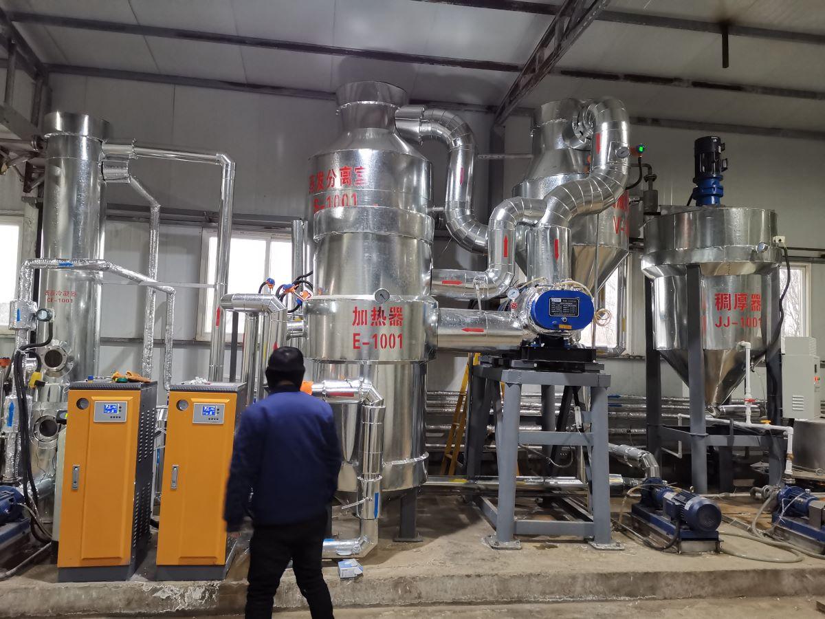 高难度电镀废水MVR蒸发器调试现场